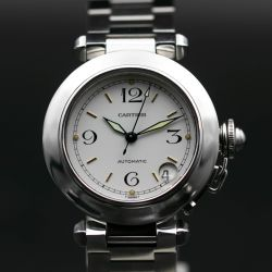 Cartier Pasha Stainless Steel White Dial Men's Watch