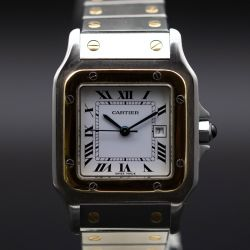 Cartier Santos Steel and Gold Automatic Men's Watch